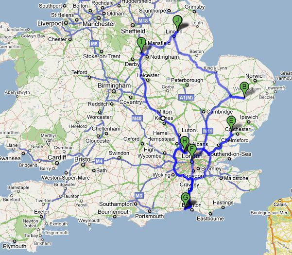 Where in the World is Rebecca Today UK Road Trip – Uk Road Map